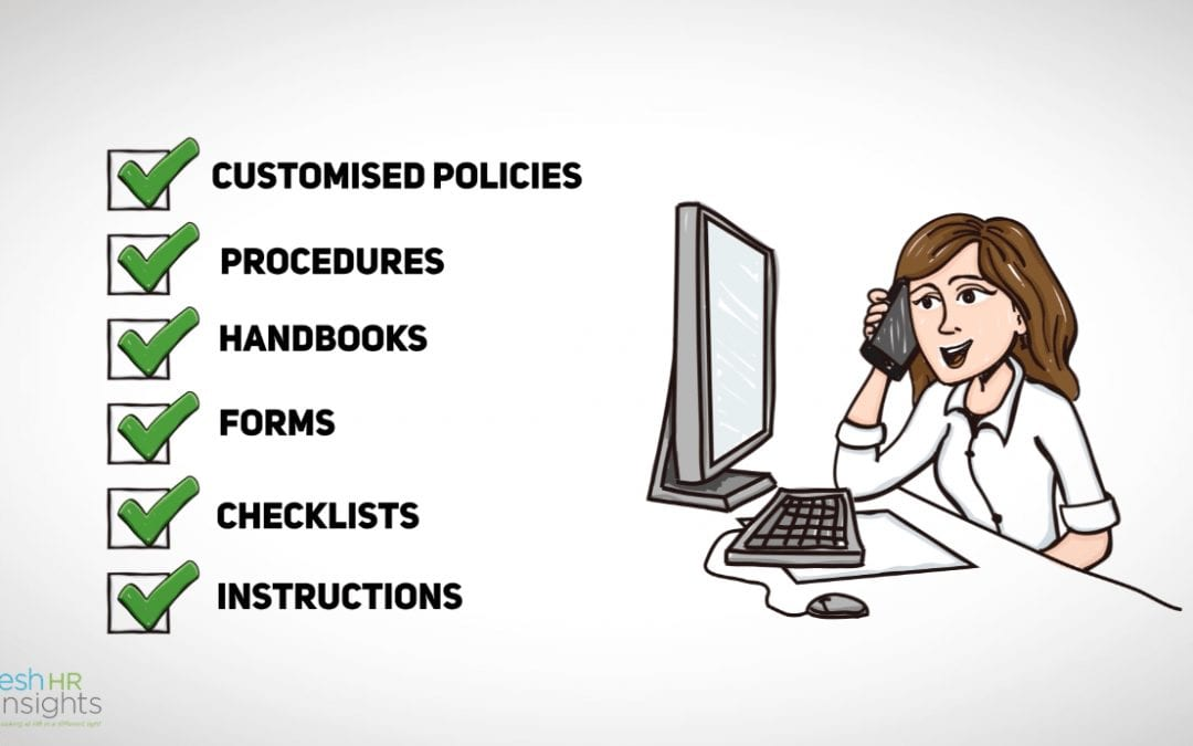 Employee policy, procedures, handbooks, forms, checklists, instructions